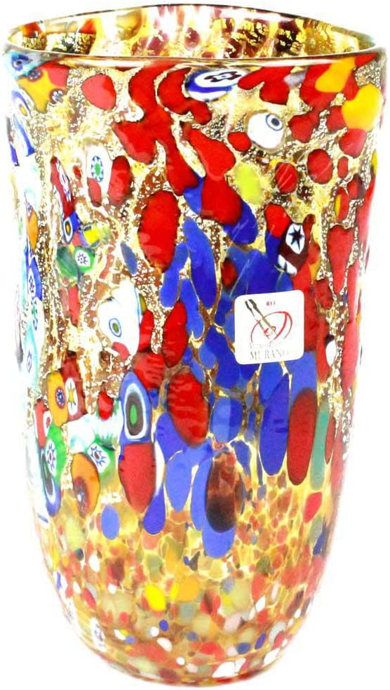 Vase Carnevale - Mix Colors Murano Don't miss the campaign OMG Glass Original Outstanding