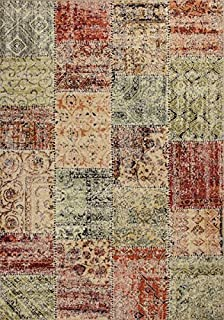 KAS Oriental Rugs Reflections Collection Patchwork Area Rug, 5'3