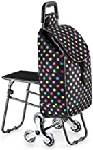 WYKDL Folding Shopping Cart Grocery Utility Cart Stair Climbing Larger Storage Stainless Steel Frame (Color : STYLE-2)