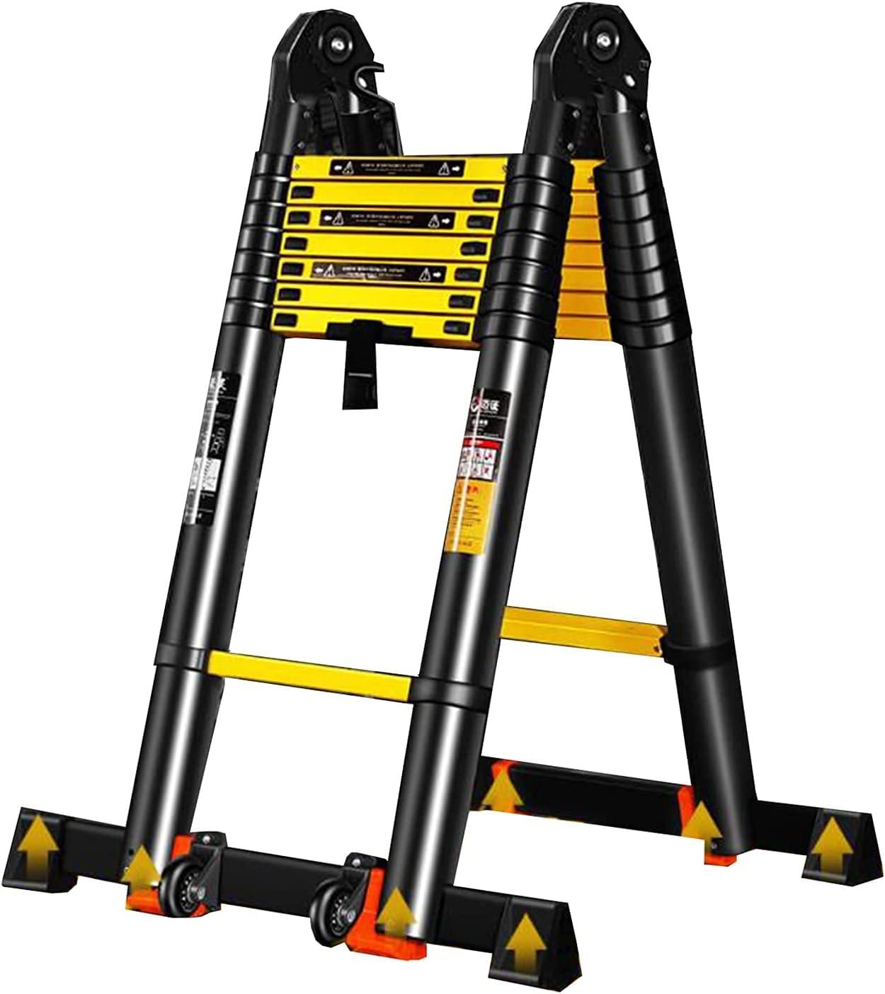 HBSC Mult-Purpose Max 51% OFF Telescopic Folding Aluminium Portable Chicago Mall Ladders