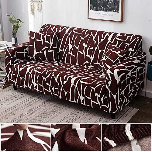WXQY Funda de sofá elástica de algodón elástica con Todo Incluido Funda de sofá de Esquina Funda para Muebles de Sala de Estar Funda de sofá para Silla sofá Toalla A23 4 plazas