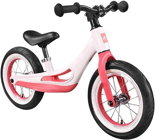 CHEERALL 12 Laufrad für Kinder, Laufendes Fahrrad für Kinder mit verstellbarem Sitz Magnesiumlegierung Kein Pedal Walking Training Fahrrad für Alter von 2 bis 6 Jahren,A