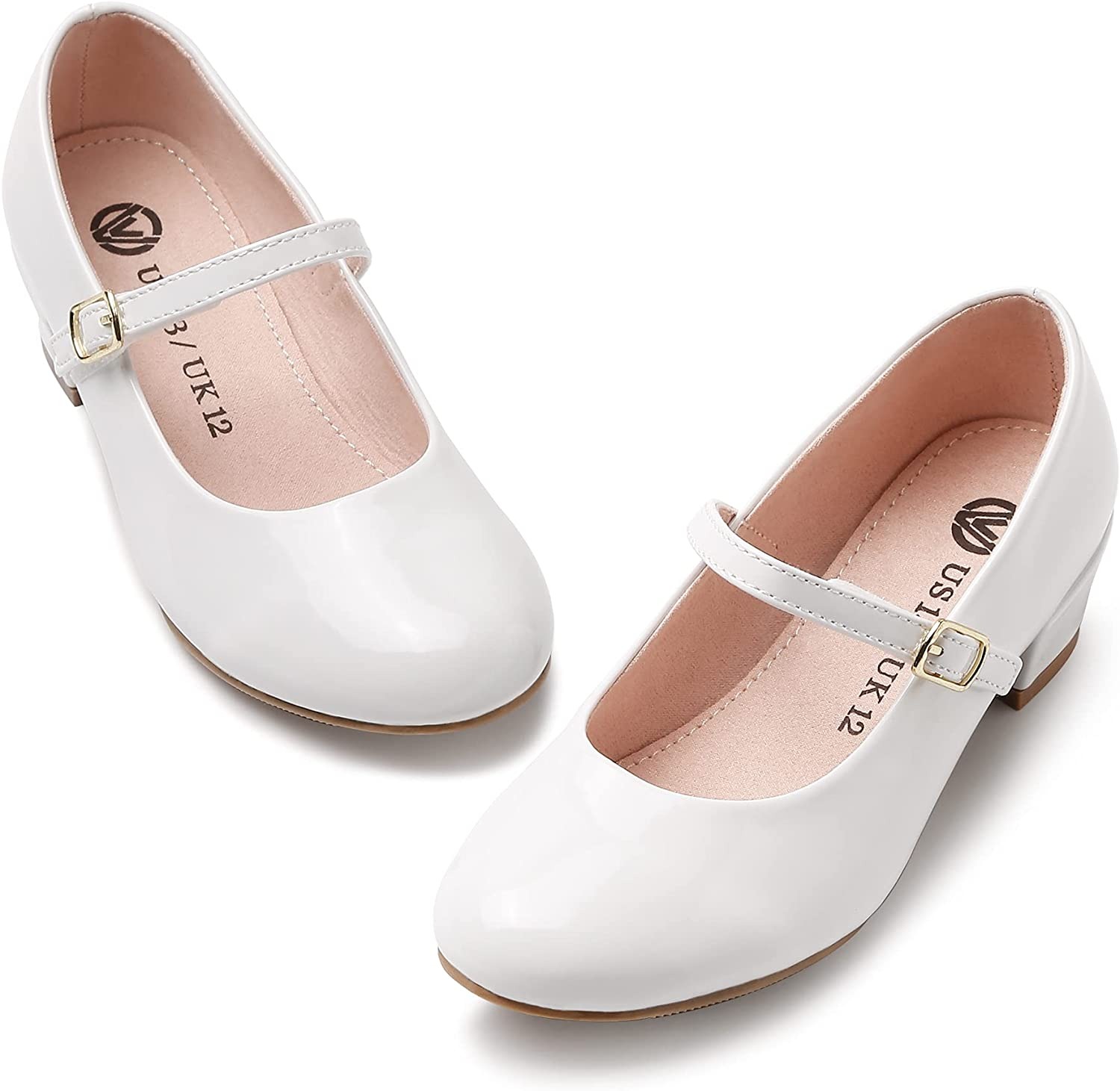 MIXIN Girls Mary Jane Dress Shoes - Princess Ballerina Flats for School Party Wedding, Back to School Shoes for Gilrs (Little Kid/Big Kids)