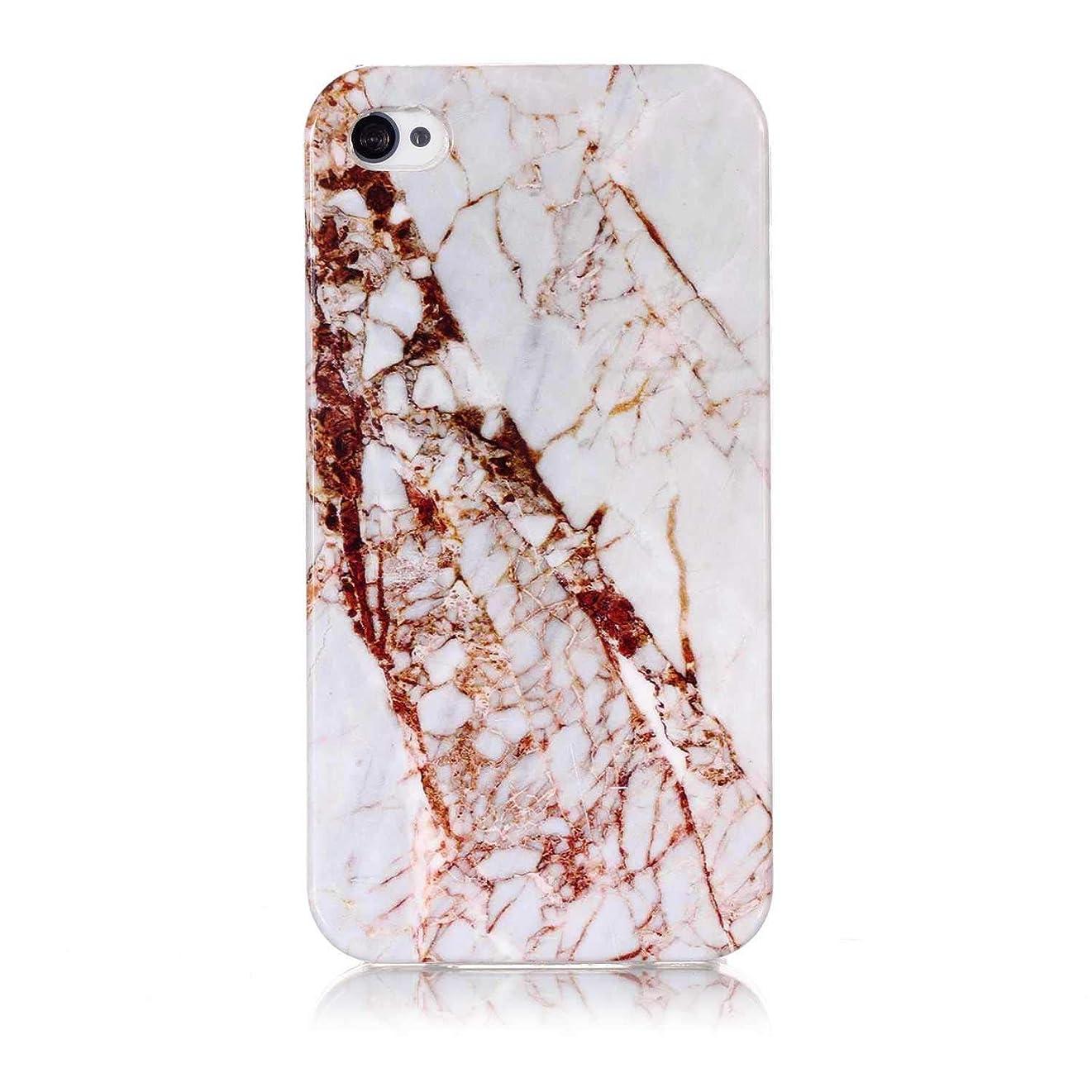 リング進化オリエンテーションiPhone 4 / iPhone 4s ケース, OMATENTI マーブル 美しい薄型 柔らかTPU い ケース, 人気 新製品 滑り防止 衝撃吸収 全面保護 バックケース, 耐摩擦 耐汚れ 落下防止 耐衝撃性 iPhone 4 / iPhone 4s 用 Case Cover,パターン-18