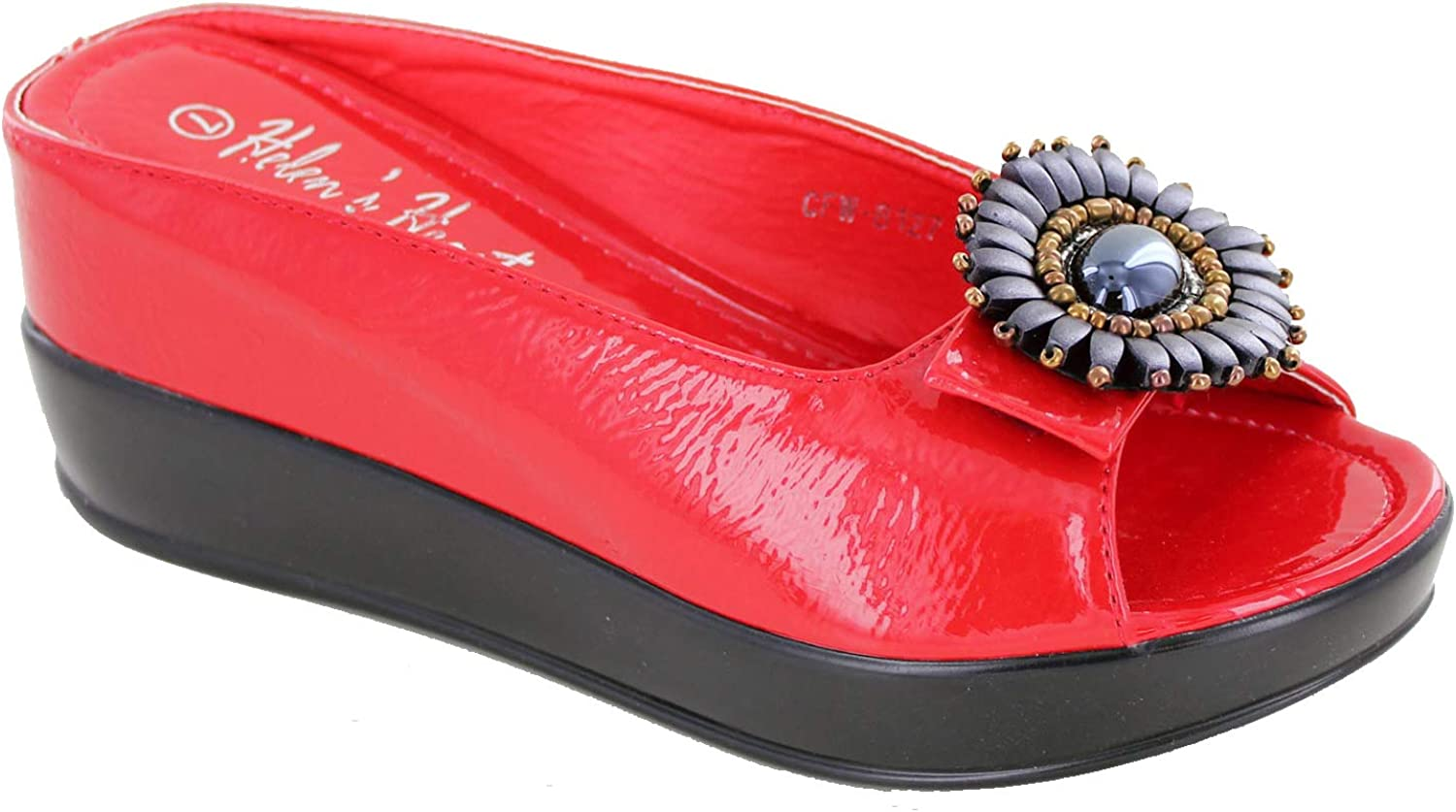 Helen's Heart CFW-8127-17 Hidden Wedge Max 58% OFF with Casual Slide Sandal Manufacturer direct delivery