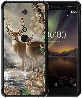 جراب لهاتف Nokia 6. جراب Nokia 6 2018 من ABLOOMBOX جراب واقٍ مطاطي نحيف وممتص للصدمات ناعم مع زوايا معززة لهاتف Nokia 6 2018