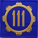 Vault 111 Fallout Style Patch Cosplay Hook and Loop 3'x3' Inches Square