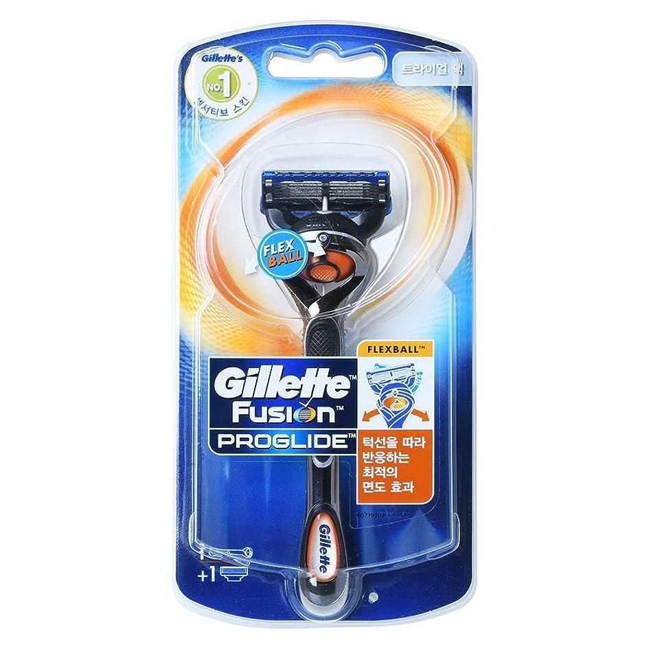 経験葡萄ひねくれたGillette Fusion Proglide Flexball Men's 1本のカミソリ1本でカミソリ1本 Trial pack [並行輸入品]