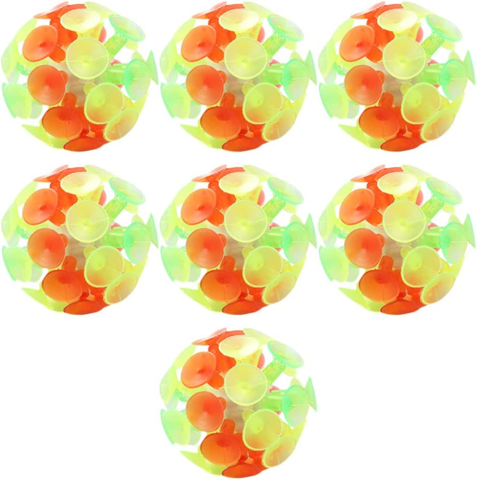NUOBESTY 7pcs Suction Cup Ball Kid 4 years warranty Toys Bounce 2021 autumn and winter new Balls