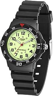 Children Analog Watch Waterproof Time Teaching Boys Girls Watch Soft Band Wrist Watch for Kids