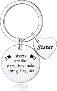 Sister Gift Sister Keychain Sister Are Like Stars They Make Things Brighter Keyring Friendship Gift Graduation Gift