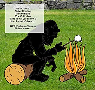 A Woodworking Pattern to Make Your own Bigfoot Sasquatch Roasting Marshmallows Includes Free TRACING Paper!