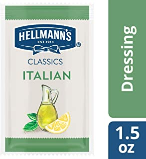 Hellmann's Classics Italian Salad Dressing Portion Control Sachets Gluten Free, No Artificial Flavors, Colors or High Fructose Corn Syrup, 1.5 oz, Pack of 102