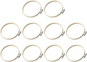 LQXZJ-DIY-handwerk 10 Stks Bamboe Ringen Borduurringen Dream Catcher Ringen Houten Display Frame Fan Frame Voor DIY Craft...