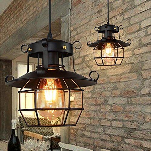 Arvin87Lyly Lustre Industriel Suspension Vintage Creux Fer Lanterne Applique en Verre Suspension industrielle Pour Couloir Entrée Allée Porche Chambre Sous Sol Etc