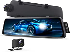 AUTO-VOX V5 Mirror Dash Cam Front and Rear,No Glare Stream Media Rear View Mirror Camera with 9.35'' Full Laminated Touch ...
