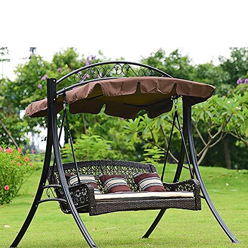 ZDYLM-Y Dondolo da Giardino con Tettuccio 3 posti Metallo Swing Chair Amaca con Staccabile baldacchino, per Cortile Terrazza