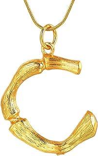 FOCALOOK Collar Choker de Mujer Colgante Nombre Inicial Alfabeto A-Z Diseño Especial con Cadena Serpiente Chapado en Plati...