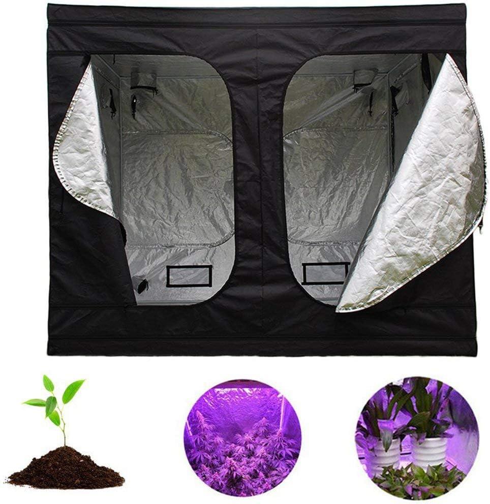 Premium Garden Greenhouses,Hydroponics Grow Room Black&Silver ...