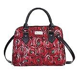 Signare Gobelin-Handtasche / Umhängetasche und börse für Damen mit Charles Rennie Mackintosh Rose und Tropfenform (CONV-RMTD)