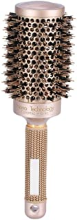 Ceramic Roller Comb, Salon Hairdressing Curling Hair Style Brushes Ceramic Iron Round Comb, Hair Styling Tools(53mm)
