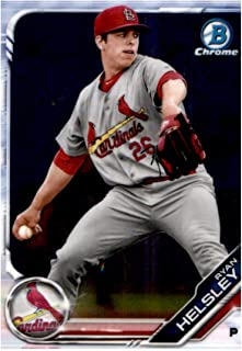 2019 Bowman Chrome Prospects #BCP-121 Ryan Helsley RC Rookie St. Louis Cardinals Baseball Trading Card
