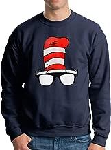 JJHH Shop Cat in The Hat Glasses - Dr. Seuss Men's Boys Crewneck Basketball Team Unisex Pullover Sweatshirt Crew Neck Hoodie