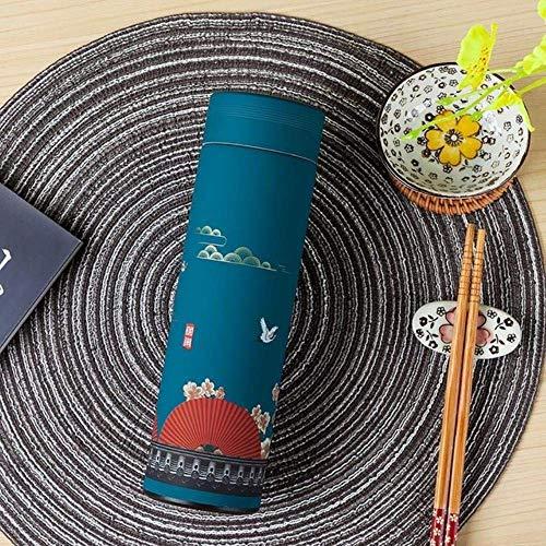 BECCYYLY 320 / 450ml Copa térmica de Acero Inoxidable Frasco de vacío Chino con Filtro Taza de café Botella de Agua Termos de Viaje, 450 ml, 320ml o 450ml wmpa