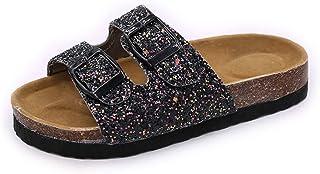WERWEAS sandales pour femmes hommes confortable semelle en liège diapositives sandales avec soutien de la voûte plantaire ...