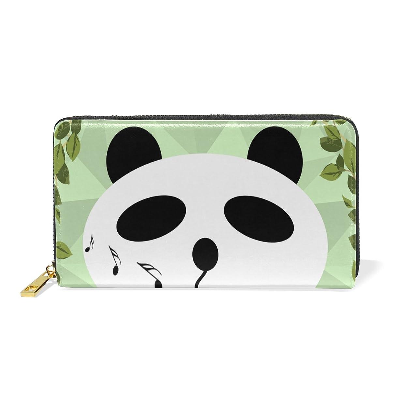 薄いです白雪姫代理店AyuStyle 長財布 レディース メンズ レザー 財布 かわいい パンダ Panda 白と黒 毛 二つ折り財布 大容量 高品質 多機能 ラウンドファスナー ウォレット