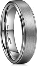 King Will Basic 6mm Tungsten Carbide Wedding Ring Brushed Center Polished Engagement Bands
