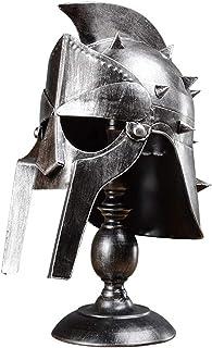 Gladiator Maximus Helmet Lampa stołowa Średniowieczny Spartan Vintage Biurko Light Grecki Replica Rycerz Armor Hełm Deskto...