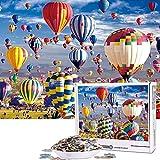 Cuteefun Puzzles para Adultos 1000 Piezas Puzzle Paisaje Puzzle Globo Aerostático Puzzle para Niños Descompresión y Regalo