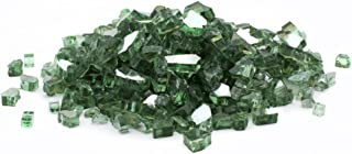 Margo Garden Products DFG25-R07 Dragon Reflective Fire Glass, 25 lb, Green