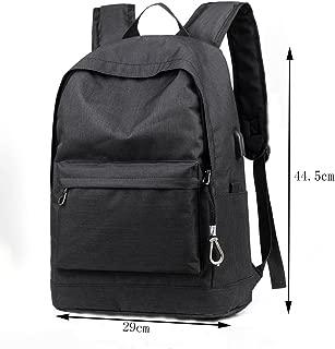 GLJ Shoulder Bag Male Fashion Trend Bags Men's Computer Bag Leisure Backpack Backpack (Color : Black)