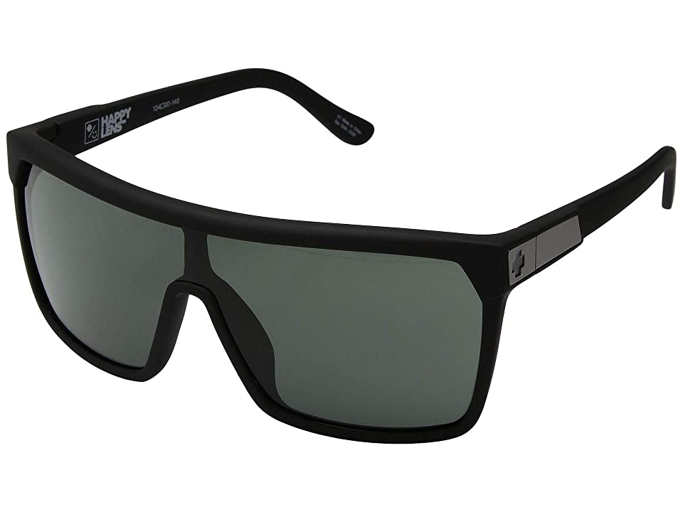 Spy Optic Flynn (Soft Matte Black/Happy Gray/Green) Sport Sunglasses