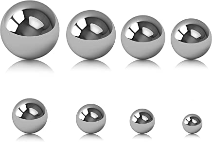 Chuangchou 8 Pieces Coin Ring Making Balls Monkey Fist Balls Stainless Steel Balls, Assortment of 3/4 Inch, 5/8 Inch, 9/16 Inch, 1/2 Inch, 7/16 Inch, 3/8 Inch, 5/16 Inch and 1/4 Inch
