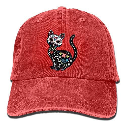TeRIydF Dia De Los Gatos Unisex Denim Baseball Cap Adjustable Snapback Hats