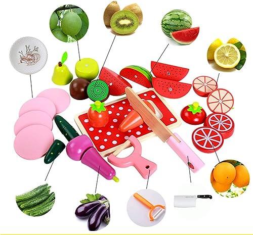 la red entera más baja Persevering Melody - Toy Niños Fruta Cortada Juguete Plástico Cocina Cocina Cocina Jugar Alimentos Verduras Corte Fingir Juego De rol Herramientas Set-Juguetes Magnéticos 1-3  caliente
