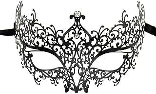 Lady of Luck Máscara de Encaje, Negra Atractiva Máscara de Mujeres Antifaz para Halloween Veneciano Mascarada Carnaval Fiesta de Baile