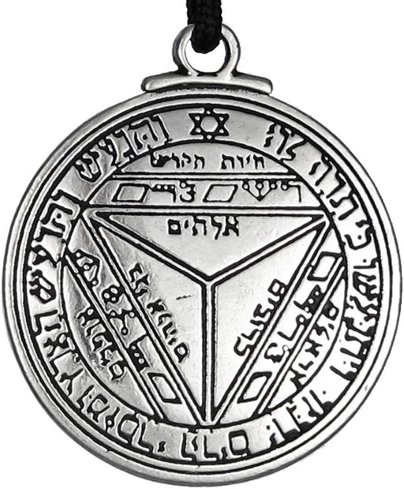 Pewter Key of Solomon Pentacle of Saturn Talisman Pendant