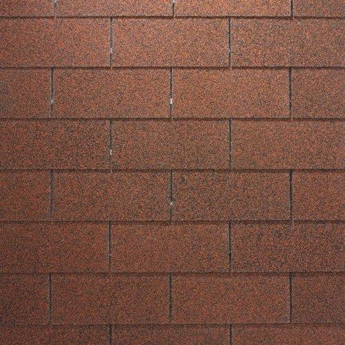 Bitumenschindeln Rechteckschindeln rot, 3 m², Bitumendachschindeln, Dacheindeckung Gartenhaus Dachschindeln