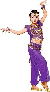 B Baosity Danse du Ventre en coton merceris/é /à Manches Courtes V/êtements de Danse Indienne Danse Orientale Top