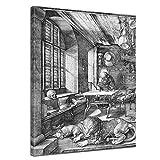 Bilderdepot24 Wandbild Albrecht Dürer Der heilige Hieronymus im Gehäus - 50x60cm hochkant - Renaissance Malerei religiöses Gemälde Heiligenbild