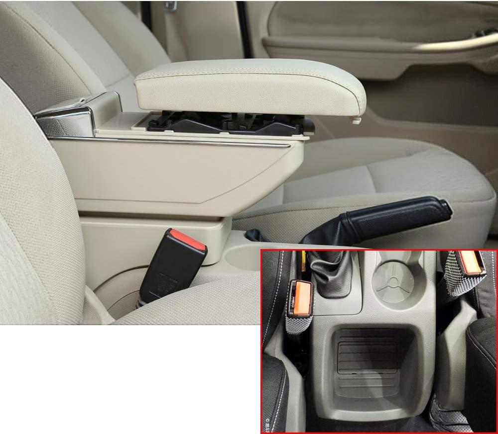 Für Focus 2 09 11 Luxus Auto Armlehne Mittelarmlehne Mittelkonsole Zubehör Eingebaute Led Licht Beige Auto