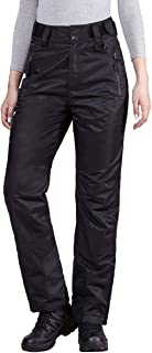 FREE SOLDIER Women's Outdoor Snow Ski Insulated Pants Windproof Waterproof Breathable Pants for Snowboarding