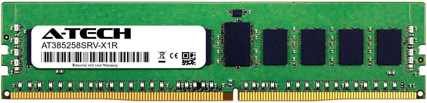 DDR4 PC4-21300 2666Mhz ECC Registered RDIMM 2rx8 A-Tech 8GB Module for GIGABYTE MF51-ES1 Server Memory Ram AT385258SRV-X1R14