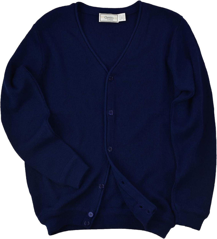 Men's Solid Link Cardigan Sweater