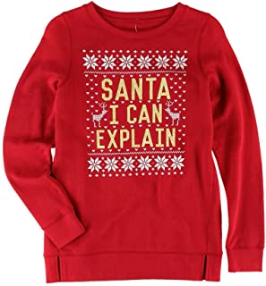 Aeropostale Girls Santa I Can Explainスウェットシャツ