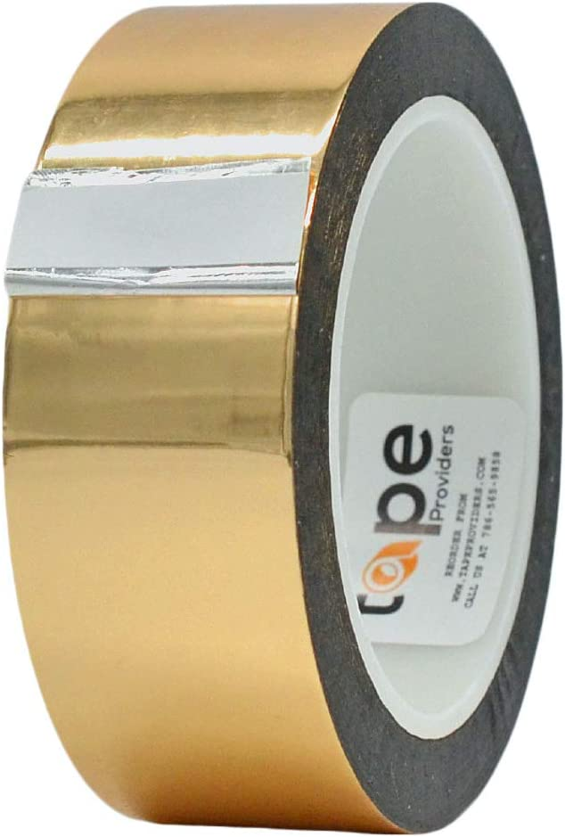MAT Metalized Polyester Mylar Limited time for free shipping National products Film Tape Gold x - 72 yd 1.5 inch